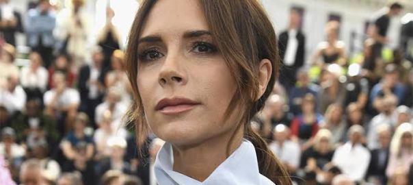 Victoria Beckham, the wife of football star, David Beckham.