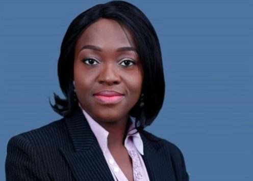 Eunice Atuejide, the presidential candidate of the National Interest Party (NIP).