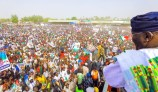 PDP's Atiku Abubakar campaigns in Yola, Adamawa State. [PHOTO CREDIT: Official twitter handle of Atiku]