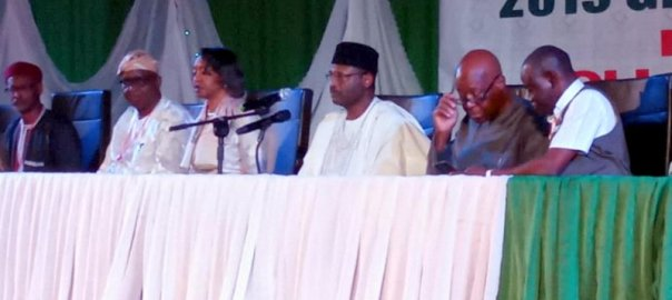 INEC Chairman, Mahmood Yakubu at the stakeholders meeting