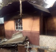 Ruins of one of the burnt houses in Ebonyi
