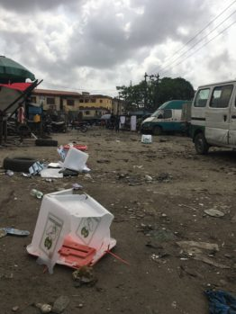 Violence breaks out at Lagos polling unit