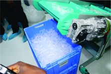 Photo showing the production process at the Akwa Ibom syringe factory