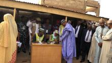 Muhammadu Buhari voting
