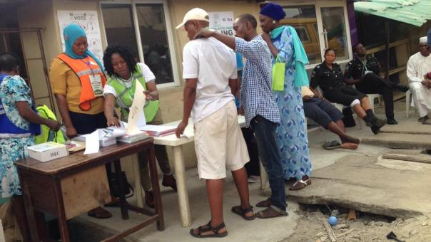 Image result for Voting, sorting end, collation ongoing in Sokoto