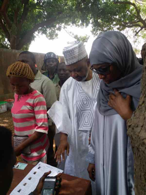 Namadi Sambo votes commend high voter turnout