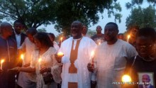 Dino Melaye at Late Pius Adesanmi candlelight tribute