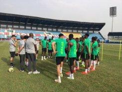 Super Eagles begin training in Asaba ahead of Seychelles, Egypt ties