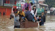 Indonesian Capital city hit by flood [Photo: BBC]