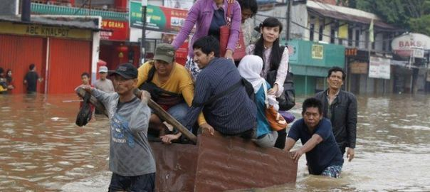 Indonesian Capital city hit by flood [Photo: BBC]