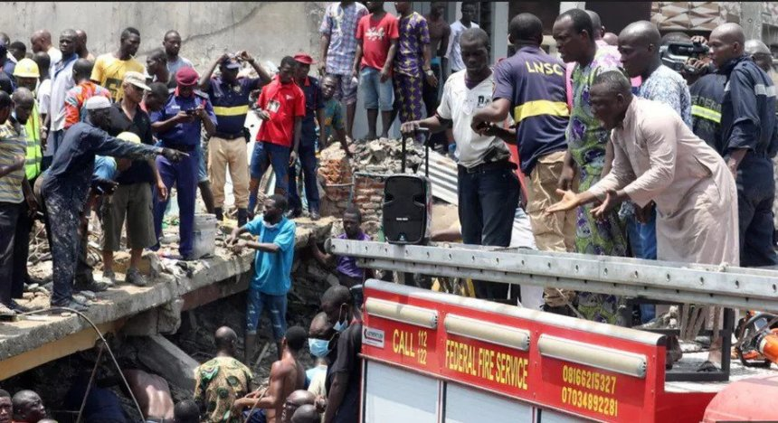 Building collapses in Lagos have become common in recent years. BBC