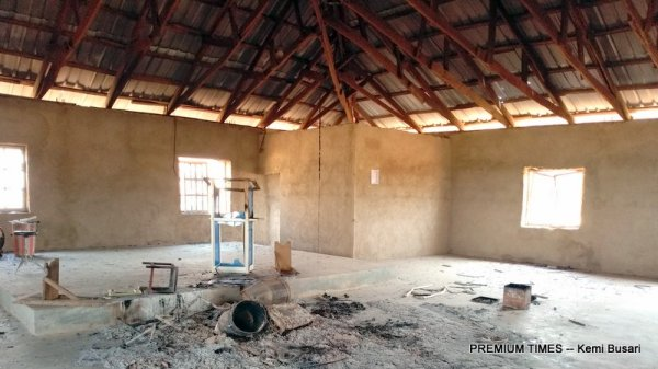 Half-burnt ECWA Church