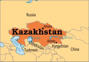 Kazakhstan on map (Photo Credit: Operation World)