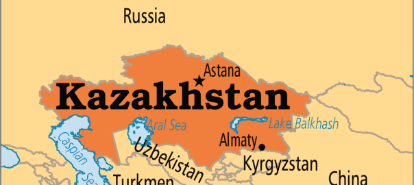 Kazakhstan on map (Photo Credit: Operation World)
