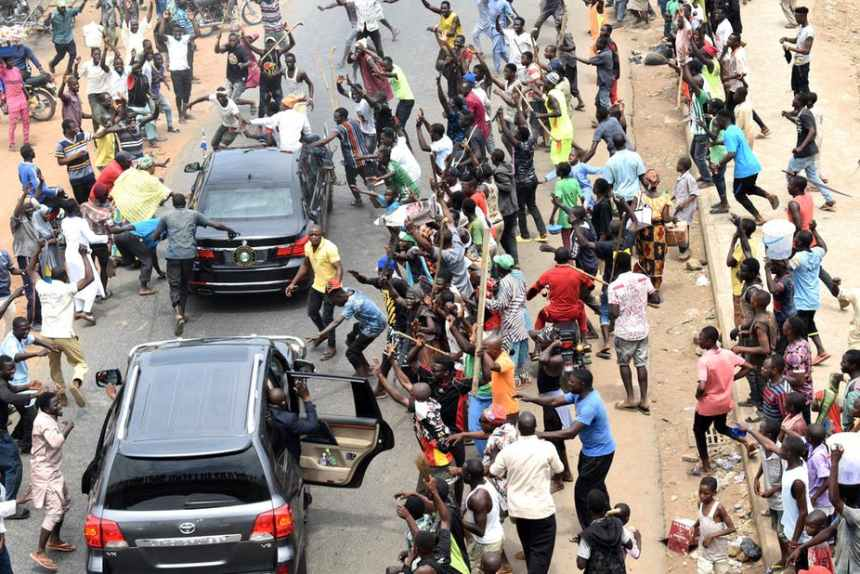 Nigerians celebrate the announcement of Muhammadu Buhari's victory. But can he deliver jobs this time round [Photo: EPA-Stringer]