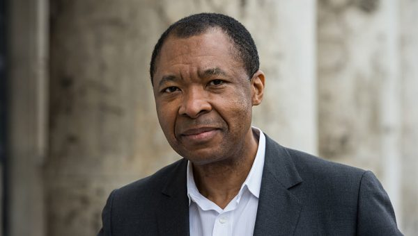 MUNICH, GERMANY - MARCH 06: Okwui Enwezor, director of the 'Haus der Kunst', attends the 'All the World's Futures' International Art Exhibition Press Conference at Haus der Kunst on March 6, 2015 in Munich, Germany. (Photo by Joerg Koch/Getty Images)