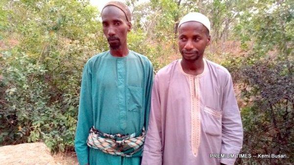 Right to left, Samaila and Ibrahim