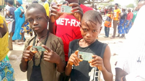 Picture of underage voters taken by Premium Times Reporter which resulted in his abduction.