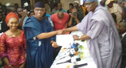 INEC PRESENTS CERTIFICATE OF RETURN TO DAPO ABIODUN, OGUNGOVERNOR-ELECT
