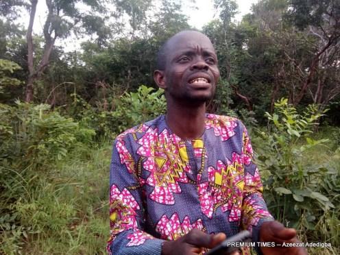 Kehinde Adeyanju explaining to PREMIUM TIMES