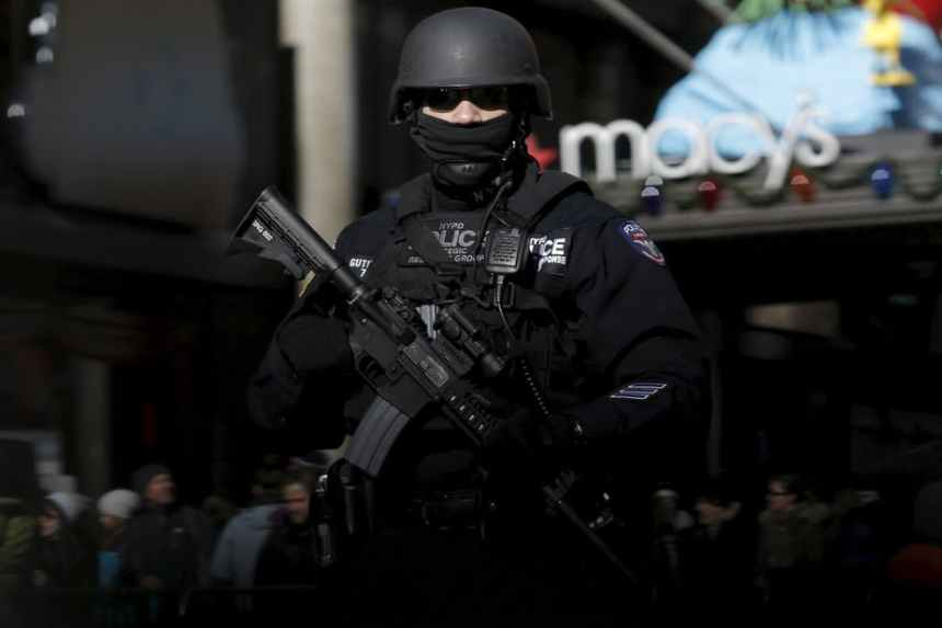 Photo of American Police used to illustrate the story