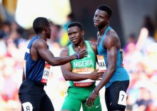 Enoch Adegoke while competing at the last Commonwealth Games in Gold Coast. [PHOTO CREDIT: Zimbio]