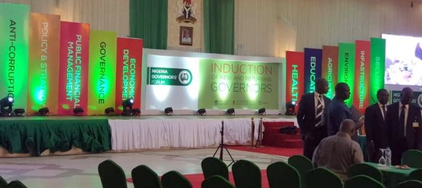 Nigeria Governors' Forum (NGF) induction.