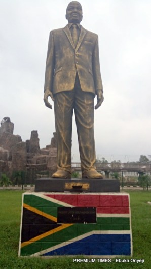 Statue of Jacob Zuma, former South African President at Hero Square in Owerri, Imo State capital.