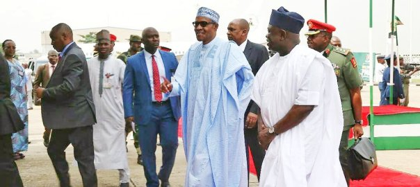 President Muhammadu Buhari in Lagos to commission a number of projects