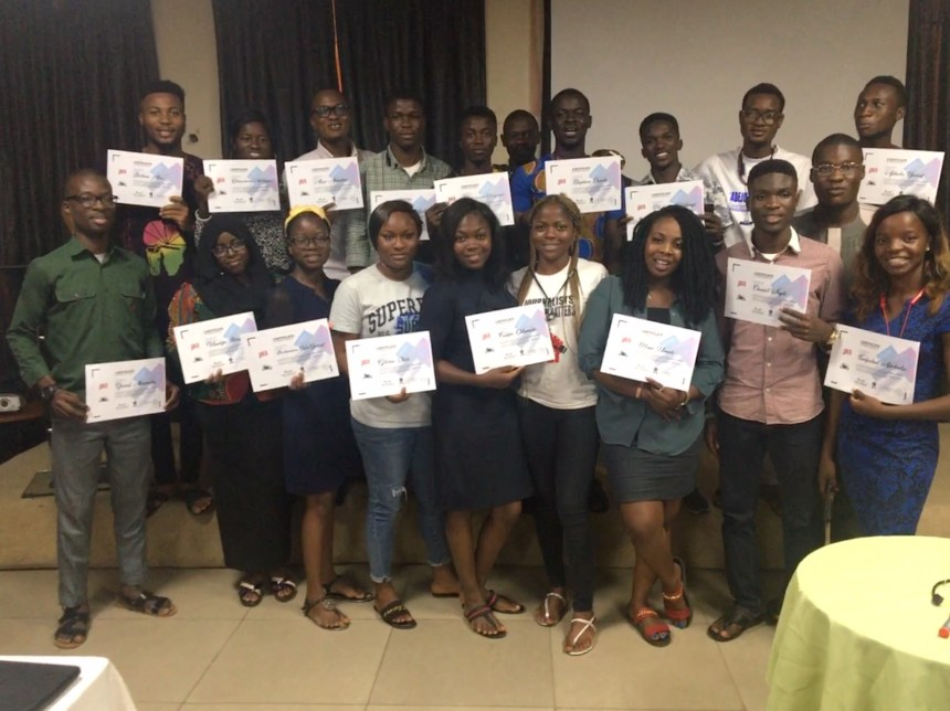 PTCIJ SUCCESSFULLY TRAINS AND CERTIFIES CAMPUS JOURNALIST