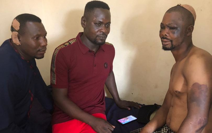 Photo of police officers attacked by armed gang in Cross River