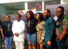 Producer, Biodun Stephen, alongside cast Blossom Chukwujekwu, Enado Odigie, Chris Ihuewa, and co-producer, Christine Osifuye at the media screening