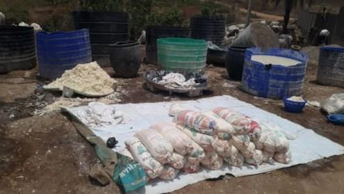 Preparation of Akpu in Dutse, FCT