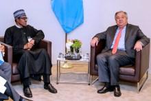 President Muhammadu Buhari and Antonio Guterres [Photo: Encomium Magazine]