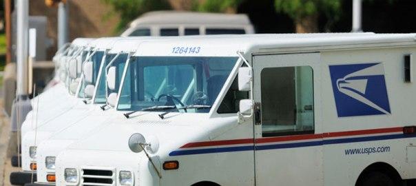 US postal service truck