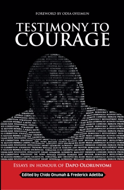 """Cover page of """"Testimony to Courage""""."""