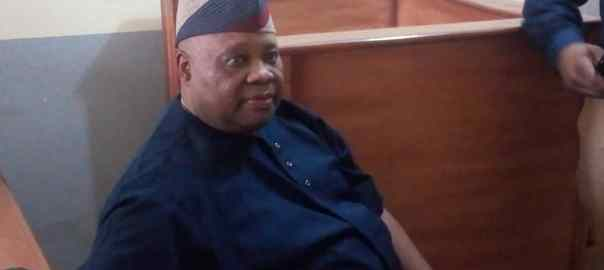 Senator Ademola Adeleke at a Magistrate Court in Abuja