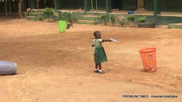 Six-year-old Salome, a nursery one pupilof L.E.A primary school, Damagaza.