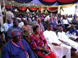 A side elevation of dignitaries at the event.