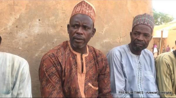 The secretary of the Hausawa community,Kabiru Bala and the elders.