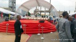 Main platform for Sanwo-Olu inauguration.