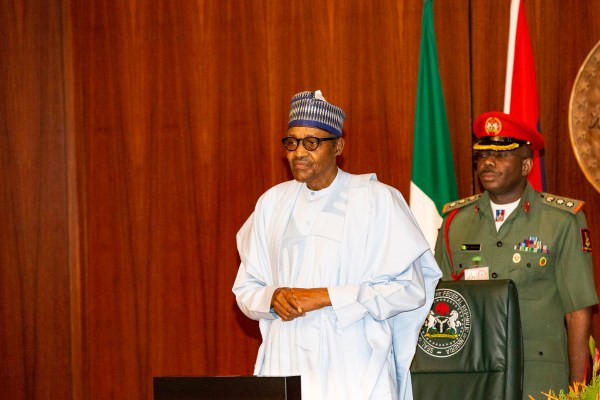 PRESIDENTBUHARI PRESIDES OVER VALEDICTORY SESSION: 0B. President Muhammadu Buhari during the valedictory for the Minister held at the Council Chambers State House Wednesday in Abuja. PHOTO; SUNDAY AGHAEZE. MAY 22 2019