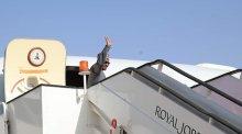 President Muhammadu Buhari leaving for Saudi Arabia (Photo Credit: Bashir Ahmad on Twitter)
