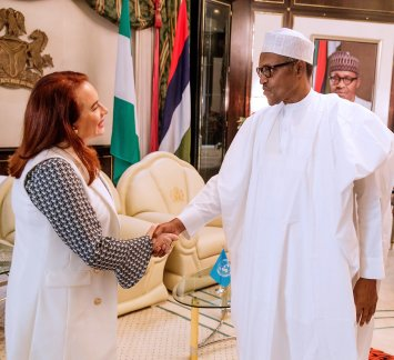 President of the 73rd United Nations General Assembly (UNGA), Maria Garces with President Buhari