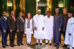 United Nations General Assembly (UNGA), Maria Garces with President Buhari