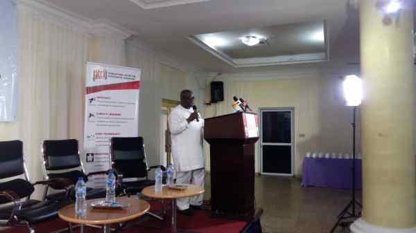 Mr Dapo Olorunyomi giving his welcome remarks at the PTCIJ Premium Times WORLD FREEDOM DAY