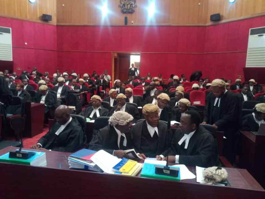 Election petition tribunal, the petition between Ambrose Awuru and his party Hope Democratic Party vs Mohammed Buhari, INEC and APC ongoing.