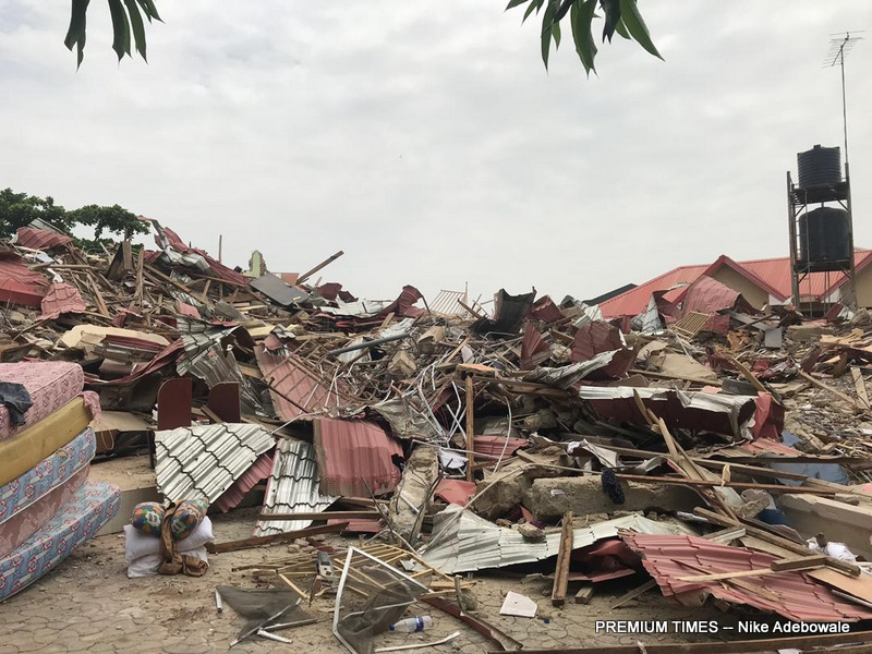 Caramelo, a popular nightclub in Abuja, the Nigerian capital, has been demolished.