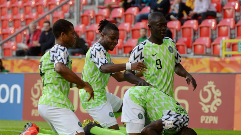 The Flying Eagles celebrating one of their goals