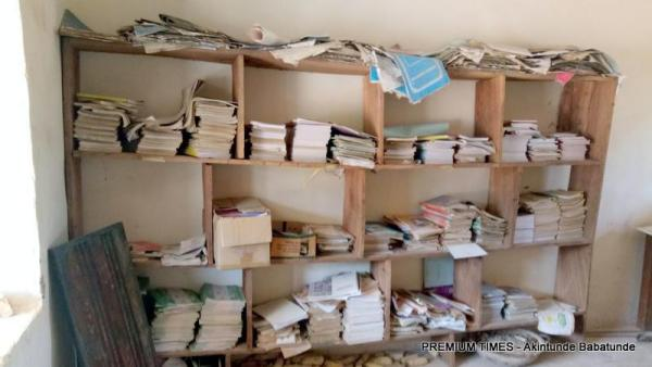 Library with outdated books turned to store for maize